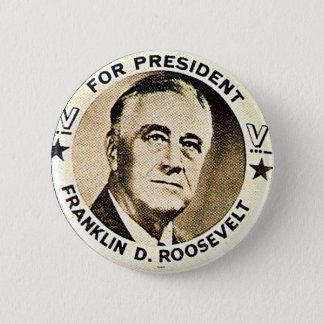 FDR 1940 - Knopf Runder Button 5,1 Cm