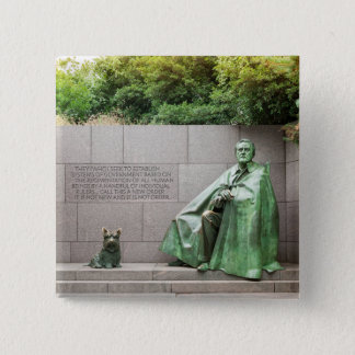 FDR-Denkmal im Washington DC Quadratischer Button 5,1 Cm
