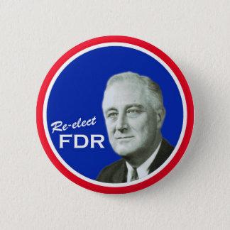FDR-Kampagnenknopf Runder Button 5,1 Cm