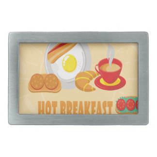 Februar ist heißer Frühstücks-Monat - Rechteckige Gürtelschnallen