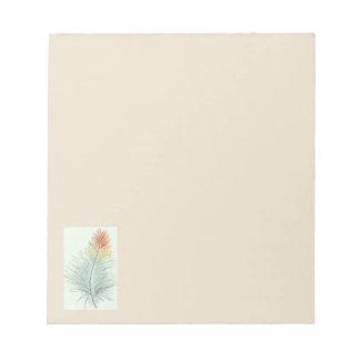 Feder-Briefpapier Notizblock