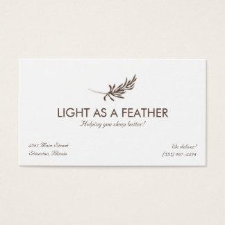 Feder-Logo-Entwurfs-Visitenkarte Visitenkarten