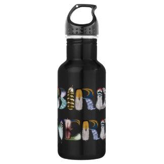 Feder-Schriftart: Vogel-Nerd Trinkflasche