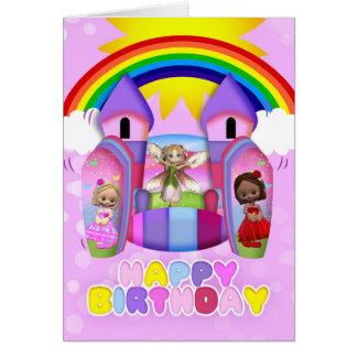 Federnd Schloss-Geburtstags-Gruß-Karte für Mädchen