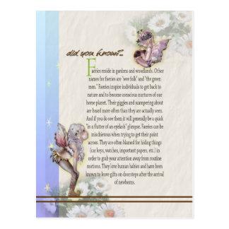 Feen-Folklore-Postkarte Postkarte