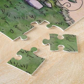 Feenhaftes Haus-Puzzle vom unwirklichen Anwesen Puzzle