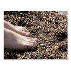 Feet on Beach Postkarte