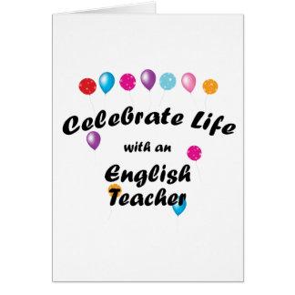 Feiern Sie Englischlehrer Karte