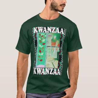 Feiern Sie Kwanzaa, dekorativen Entwurf T-Shirt