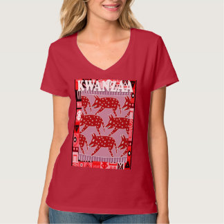 Feiern Sie Kwanzaa, wilden Eber auf dem Lauf T-Shirt
