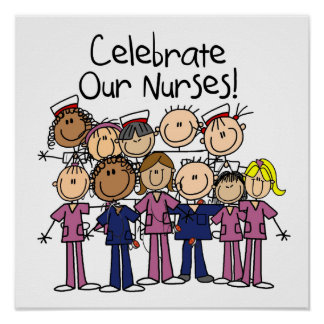 Feiern Sie unsere Krankenschwestern Poster