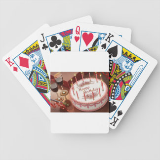 Feiern von hundert Jahren mit Kuchen und Wein Bicycle Spielkarten