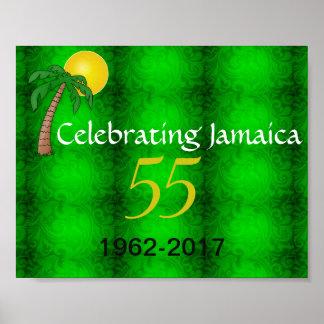 Feiern von Plakat Jamaikas 55.