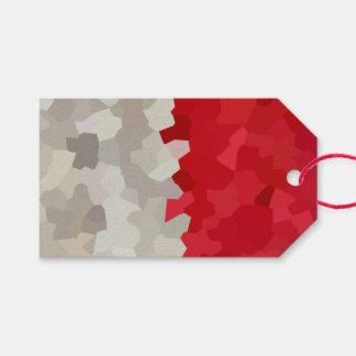 Feiertag rot und weißes Sankt-Mosaik abstrakt Geschenkanhänger