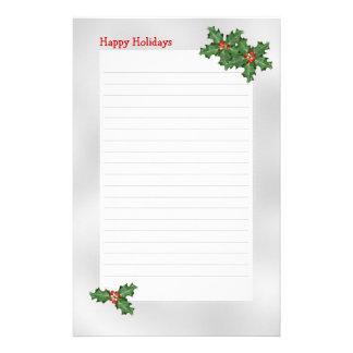 Feiertag themenorientiert, grüne Stechpalme Briefpapier
