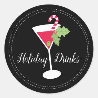 Feiertag trinkt Cocktail-Aufkleber Runder Aufkleber