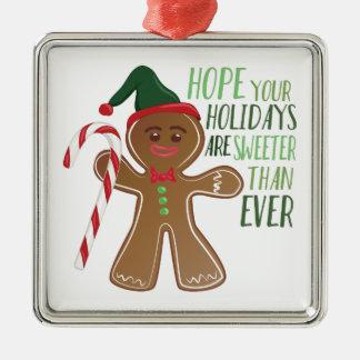 Feiertage sind süßer silbernes ornament