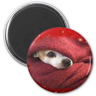Feiertags-Chihuahua Runder Magnet 5,7 Cm