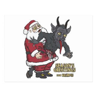 Feiertags-Grüße von Krampus (und von Sankt) Postkarten