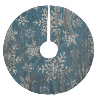Feiertags-Holzschneeflocke des Baumrockes Polyester Weihnachtsbaumdecke