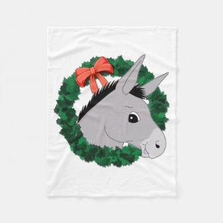 Feiertags-Kranz-Esel Fleecedecke