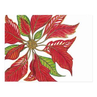 Feiertags-Poinsettia   kundengerecht Postkarte
