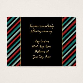 Feiertags-Poinsettia Stripes den Hochzeits-Empfang Visitenkarte