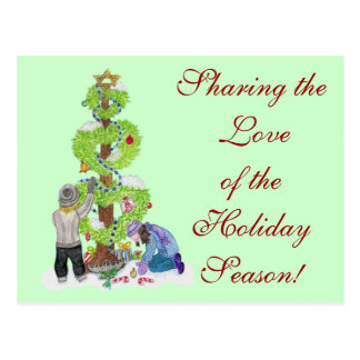 Feiertags-Postkarte Postkarte