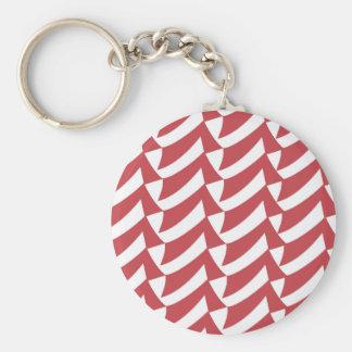 Feiertags-rote und weiße Karos Schlüsselanhänger