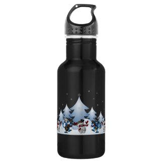 Feiertags-Schneemänner Trinkflasche
