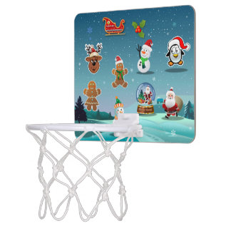 Feiertags-Szenen-Cartoon Mini Basketball Netz