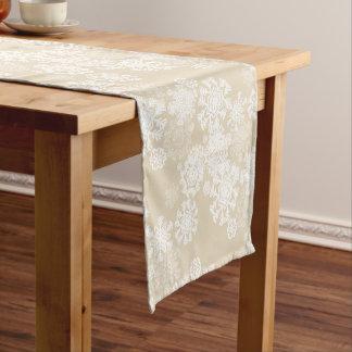 Feiertags-Tabelle Läufer-Schneeflocken Kurzer Tischläufer