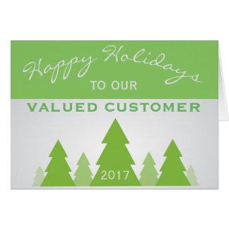 Feiertags-Weihnachtskiefern-Firmenkunde-Gruß Mitteilungskarte