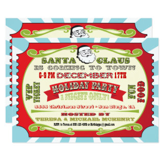 Feiertags-WeihnachtsParty-Karten-Einladung 12,7 X 17,8 Cm Einladungskarte