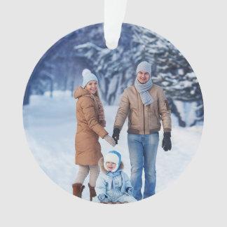 Feiertags-Winter-Familien-Foto Ornament