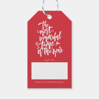 Feiertagsweihnachtengeschenk-Umbauten der FROHEN Geschenkanhänger