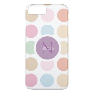 feine PastellfarbTupfen iPhone 8 Plus/7 Plus Hülle