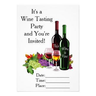 Feiner Wein 12,7 X 17,8 Cm Einladungskarte