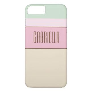 Feines Pastellfarbgewohnheits-Monogramm iPhone 8 Plus/7 Plus Hülle
