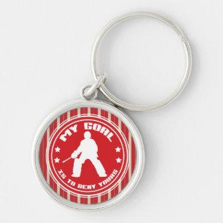 Feld-Hockey-Tormann-Zitat-Schlüsselring Schlüsselanhänger