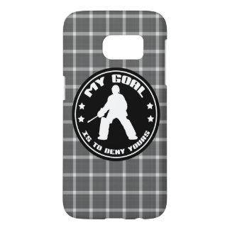 Feld-Hockey-Tormann-Zitat-Telefon-Kasten