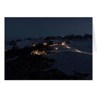 Feld-Lager nachts Juneau Icefield (freier Raum Karte