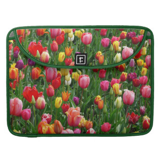 Feld von Tulpe-Blumen Macbook Prohülse MacBook Pro Sleeve
