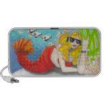 Felsen-Hummer-Meerjungfrauphantasie-Kunst Lautspre iPod Lautsprecher