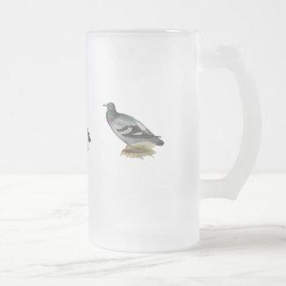 Felsen-Taube oder Felsen-Taube Mattglas Bierglas