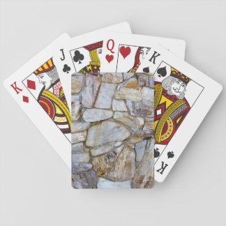 Felsen-Wand-Beschaffenheits-Foto auf Cardstock Spielkarte