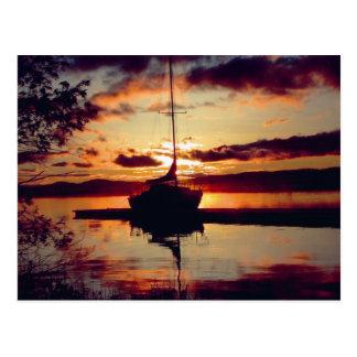 Felsige Punkt-Sonnenuntergang-Postkarte Postkarten