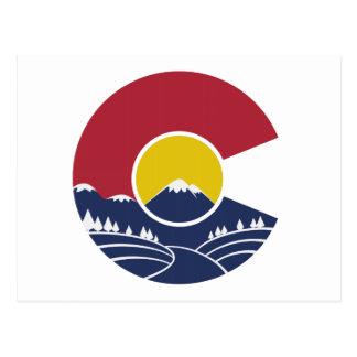 Felsiger Berg Colorado C Postkarte