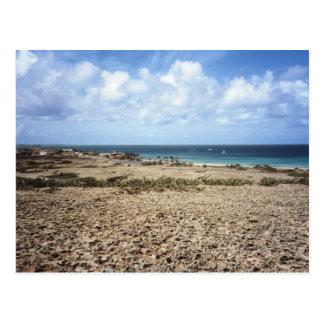 Felsiger Meerblick Arubas Postkarte