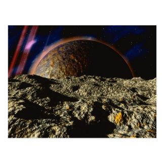 Felsiger Planet Postkarte